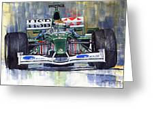 Jaguar R3 Cosworth F1 2002 Eddie Irvine Greeting Card