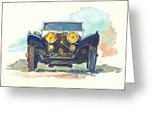 Jaguar Ss 100 Greeting Card