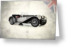 Jaguar Ss100 1936 Greeting Card by Mark Rogan