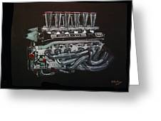 Jaguar V12 Twr Engine Greeting Card
