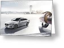 Jaguar Xj Ultimate 2013 Greeting Card