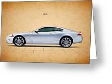 Jaguar Xk Greeting Card by Mark Rogan
