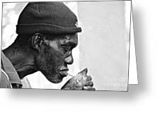 Jah, Rastafari Greeting Card