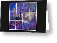 Jail Alley, Fredericksburg, Va Greeting Card