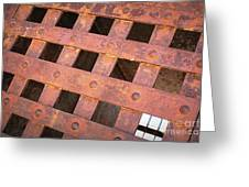 Rusty Jailhouse Door Greeting Card