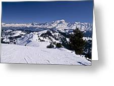 Le Jaillet Facing Mont Blanc Greeting Card