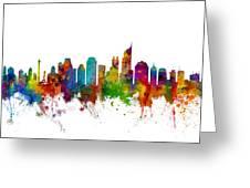 Jakarta Skyline Indonesia Greeting Card