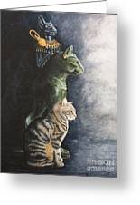 Jake And The Ancestors-pet Portrait Greeting Card