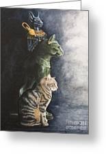 Jake And The Ancestors-pet Portrait Greeting Card