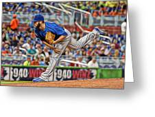 Jake Arrieta Chicago Cubs Pitcher Greeting Card