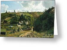 Jalais Hill At Pontoise Greeting Card