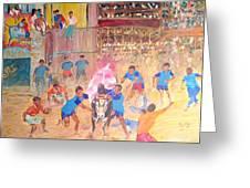 Jallikattu- The Bull Fight Greeting Card