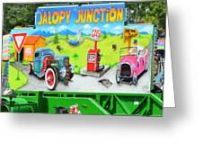 Jalopy Junction 3 Greeting Card