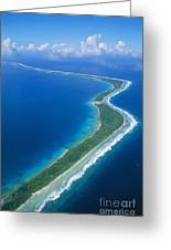 Jaluit Atoll And Lagoon Greeting Card