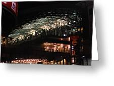 Jamaica Station In Lights Greeting Card