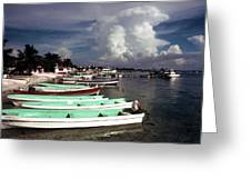 Jamaican Fishing Boats Greeting Card