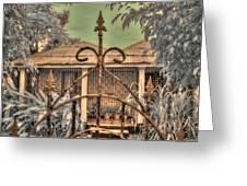 Jamaican Gate Greeting Card
