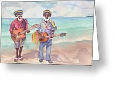 Jamaican Musician Watercolor Greeting Card
