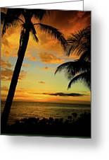 Jamaican Night Greeting Card by Kamil Swiatek
