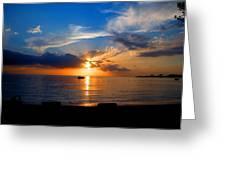 Jamaican Sunset Rays  By Steve Ellenburg Greeting Card