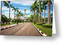 Jame'asr Hassanil Bolkiah Mosque In Brunei Greeting Card
