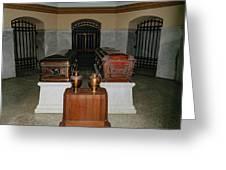 James A. Garfield Coffin Greeting Card