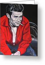 James Dean - Picture In A Picture Show Greeting Card by Eric Dee