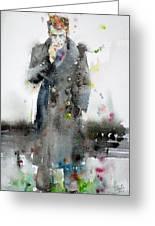 James Dean - Watercolor Portrait.3 Greeting Card