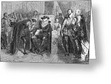 James I Appoints Bacon Lord Chancellor Greeting Card