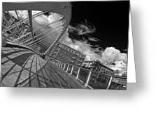 James Joyce Bridge 2 Bw Greeting Card