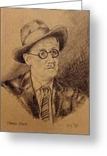 James Joyce Greeting Card by John  Nolan