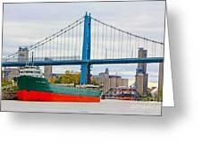 James M Schoonmaker And The Anthony Wayne Bridge Greeting Card