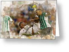 James Rodriguez Performs An Overhead Kick  Greeting Card