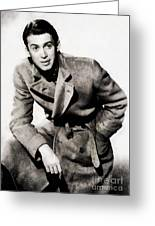 James Stewart, Hollywood Legend By John Springfield Greeting Card