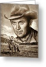 James Stewart The Far Country Greeting Card
