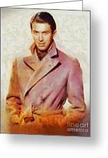 James Stewart, Vintage Hollywood Legend Greeting Card