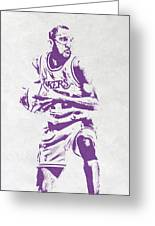 James Worthy Los Angeles Lakers Pixel Art Greeting Card