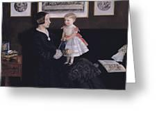 James Wyatt Jr And Her Daughter Sarah Greeting Card
