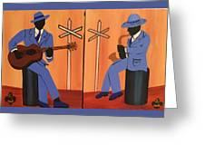 Jammin At The Crossroads Greeting Card