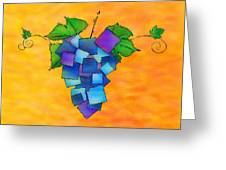 Jamurissa - Square Grapes Greeting Card