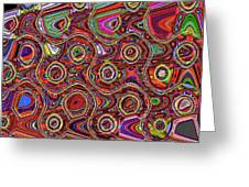 Janca Abstract Panel #097e10 Greeting Card