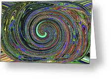 Janca Abstract Panel #5473w4 Greeting Card
