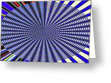 Janca Blue Oval Abstract 9646w11 Greeting Card