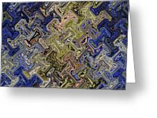 Janca Color Panel Abstract #5687 Et1b Greeting Card