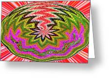 Janca Pink Color Panel Abstract #5212 Wtw6 Greeting Card