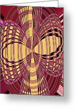 Janca Red And Yellow Abstract  Greeting Card