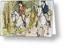 Jane Austen: Illustration Greeting Card