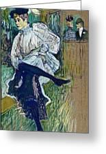 Jane Avril Dancing Circa 1892 Greeting Card