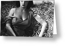 Jane Russell In The Outlaw Wow Greeting Card
