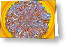 Janet -- Floral Disk Greeting Card